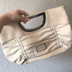 B. Makowsky metal handle clutch purse